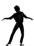 Hombre del baile del bailarín del canguelo del salto de la cadera Imágenes de archivo libres de regalías