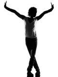 Hombre del baile del bailarín del canguelo del salto de la cadera Fotos de archivo libres de regalías