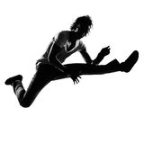 Hombre del baile del bailarín del canguelo del salto de la cadera Fotografía de archivo libre de regalías