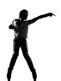 Hombre del baile del bailarín del canguelo del salto de la cadera Fotografía de archivo