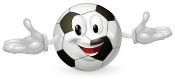 Hombre del balón de fútbol Imágenes de archivo libres de regalías