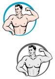 Hombre del Bodybuilder ilustración del vector