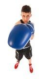 Hombre del boxeo con el sacador grande Imagenes de archivo