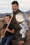 Hombre del caballero del festival del renacimiento de Arizona Fotografía de archivo