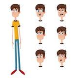 Hombre del carácter con el humor Imagen de archivo libre de regalías