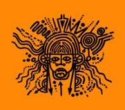 Hombre del cerebro Imagen de archivo libre de regalías