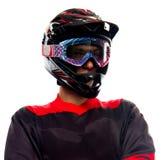 Hombre del ciclista en uniforme de la bicicleta Imagen de archivo