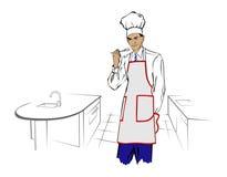 Hombre del cocinero Imagen de archivo libre de regalías