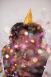 Hombre del confeti en partido Fotografía de archivo