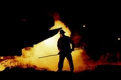 Hombre del control de incendios Foto de archivo