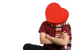 Hombre del corazón Foto de archivo libre de regalías