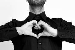 Hombre del corazón Imagen de archivo