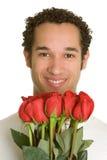 Hombre del día de tarjetas del día de San Valentín Fotografía de archivo