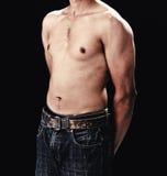 Hombre del deporte con el cuerpo perfecto de la aptitud Imagen de archivo