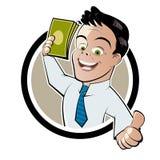 Hombre del dinero stock de ilustración