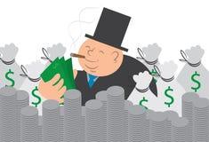 Hombre del dinero con efectivo y monedas libre illustration