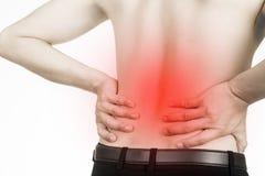 Hombre del dolor de espalda Imagenes de archivo