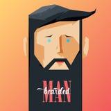 Hombre del ejemplo con la barba stock de ilustración