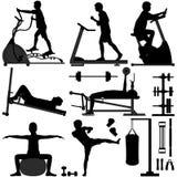 Hombre del ejercicio del entrenamiento del gimnasio de la gimnasia stock de ilustración