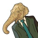 Hombre del elefante Fotografía de archivo libre de regalías