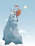 Hombre del escalador de montaña ilustración del vector