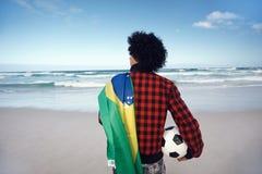 Hombre del fútbol de Brazillian Imagenes de archivo