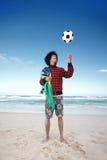 Hombre del fútbol de Brazillian Fotografía de archivo libre de regalías