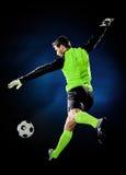 Hombre del fútbol del portero Fotos de archivo