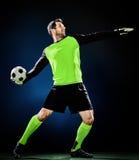 Hombre del fútbol del portero Fotos de archivo libres de regalías