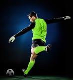 Hombre del fútbol del portero aislado Foto de archivo