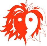 Hombre del fuego del corazón Imagen de archivo libre de regalías