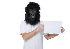 Hombre del gorila imagenes de archivo