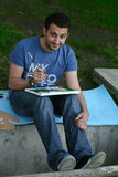 Hombre del gráfico Foto de archivo libre de regalías