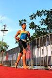 Hombre 2014 del hierro de Malasia que corre de la nadada Imagen de archivo libre de regalías