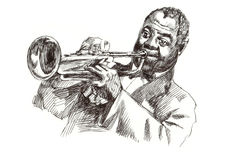 Hombre del jazz Imagenes de archivo