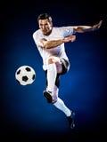 Hombre del jugador de fútbol aislado Imagenes de archivo