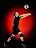 Hombre del jugador de la bola del voleo aislado Foto de archivo