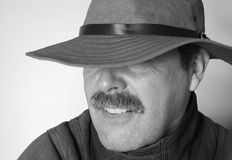Hombre del misterio foto de archivo libre de regalías