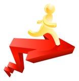 Hombre del oro que corre en flecha Fotografía de archivo
