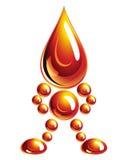 Hombre del petróleo, icono, Imagen de archivo libre de regalías