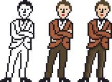Hombre del pixel Imagen de archivo libre de regalías