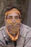 Hombre del retrato en la calle en Leh, Ladakh La India Foto de archivo libre de regalías
