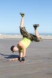 Hombre del salto de la cadera fotos de archivo