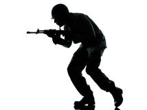 Hombre del soldado del ejército en asalto Imagen de archivo libre de regalías
