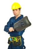 Hombre del soldador Imágenes de archivo libres de regalías