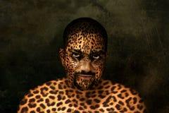 Hombre del tigre Fotografía de archivo libre de regalías