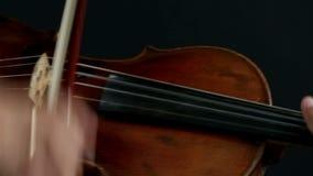 Hombre del violinista del Latino en un fondo negro metrajes
