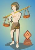 Hombre del zodiaco: Libra Imagen de archivo libre de regalías