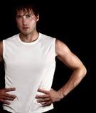 Hombre deportivo del atleta Foto de archivo libre de regalías