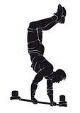 Hombre deportivo que hace ejercicio del entrenamiento de la calle handstand Fotografía de archivo libre de regalías